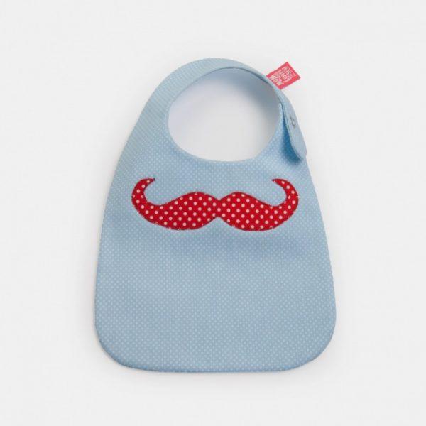 """Babete para bebés """"bigode Mr Moustache"""""""