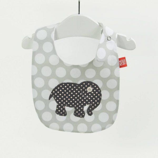 """Babetes para bebés """"Elefante cinza"""""""