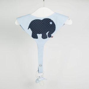 """Babete porta chupetas """"Elefante"""""""