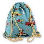 """Sacos mochila para criança leve e original """"Animais no trânsito"""""""