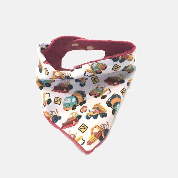 """Babete bandana para bebés """"Construção"""""""