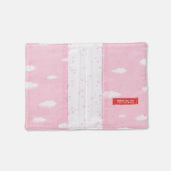 """Bolsa porta documentos do bebé """"Céu rosa"""""""