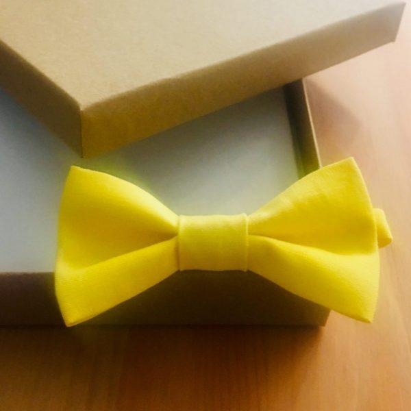 Laços de pescoço para cerimónias (amarelo vivo)