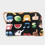 Porta máscaras, moedas e documentos 'Emoji'