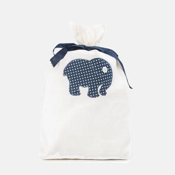 """Saco para a primeira roupa do bebé """"Elefante"""""""