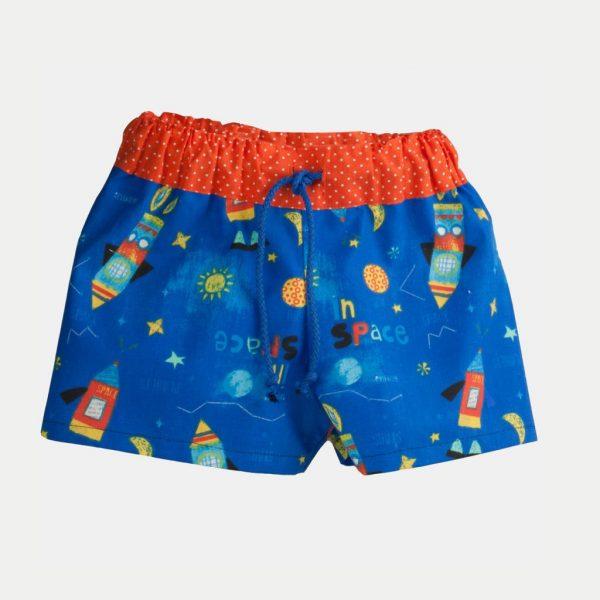 """Calções de banho """"Espaço"""" . Shorts de praia"""