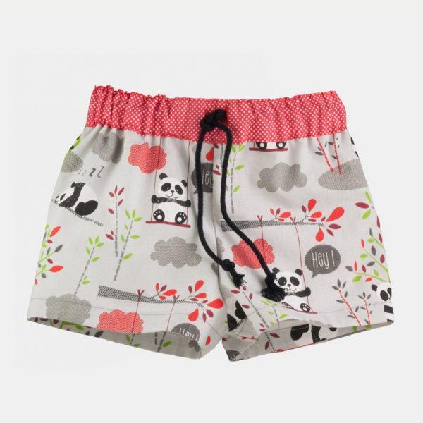 """Calções de banho """"Pandinhas"""" . Shorts de praia"""