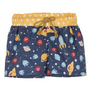 """Shorts de praia para menino """"Espaço"""""""