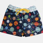 """Calções de banho para menino """"Espaço e planetas"""""""