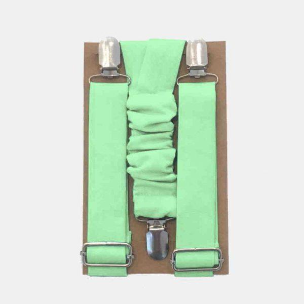 Suspensórios para cerimónia (verde chá)