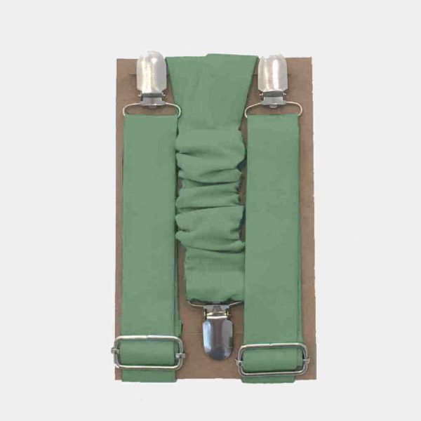 Suspensórios para cerimónia (verde sage)