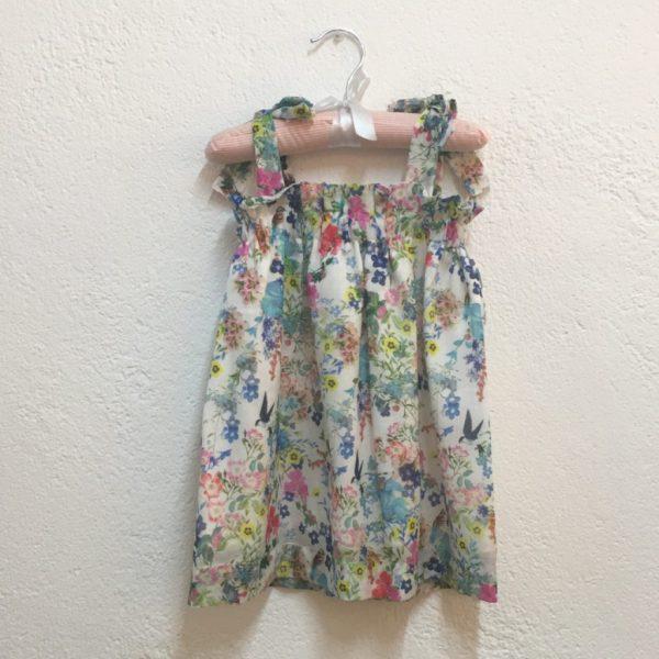 """Vestido de alças """"Benedita"""" . Top de verão para menina"""